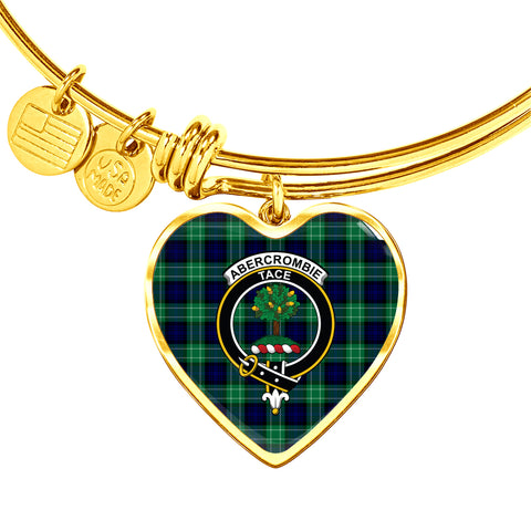 Abercrombie Tartan Crest Heart Bangle HJ4