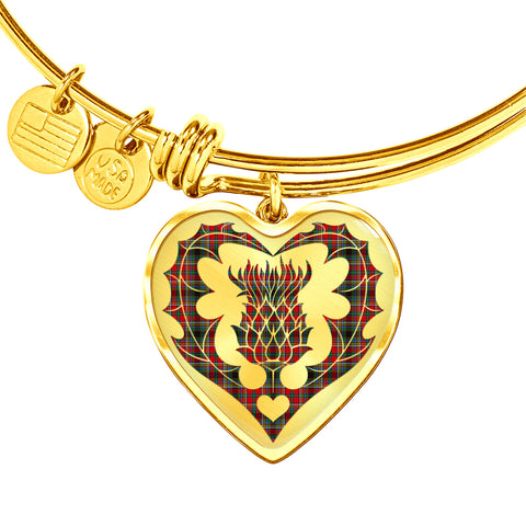 Image of Anderson of Arbrake Tartan Bangle Thistle Heart Shape TH8