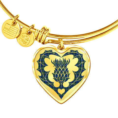 Image of Baird Ancient Tartan Bangle Thistle Heart Shape TH8
