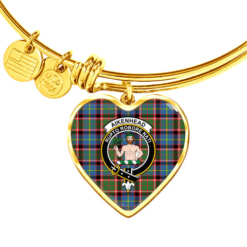 Image of Aikenhead  Tartan Crest Heart Bangle