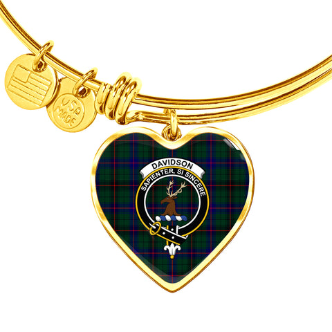 Davidson Modern  Tartan Crest Heart Bangle HJ4