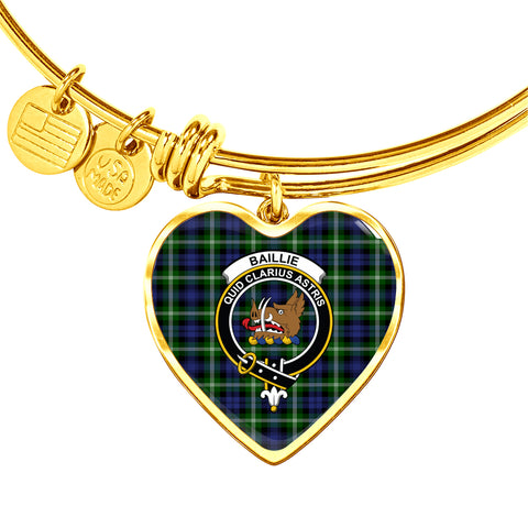 Image of Baillie Modern  Tartan Crest Heart Bangle HJ4