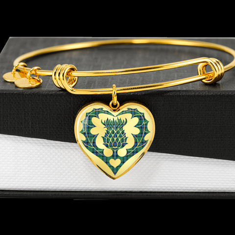Armstrong Ancient Tartan Bangle Thistle Heart Shape TH8