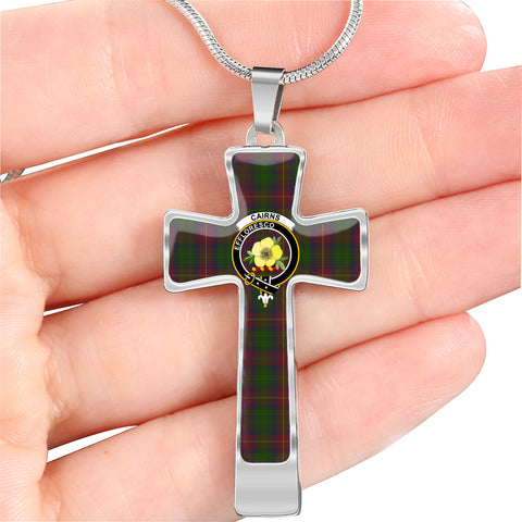 Cairns Tartan Jewelry - Cross Necklace| Exclusive Over 300 Clans| scottishclans.co