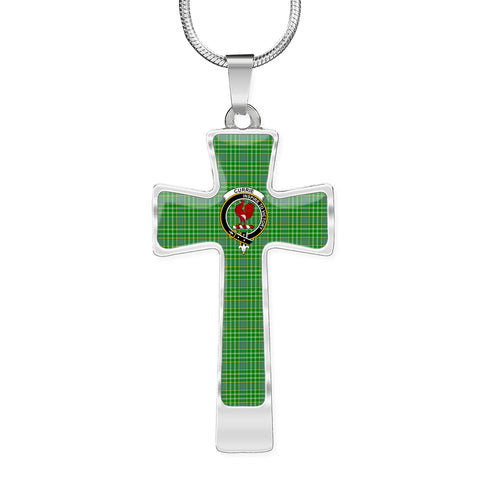 Currie (Or Curry) Tartan Jewelry - Cross Necklace K7