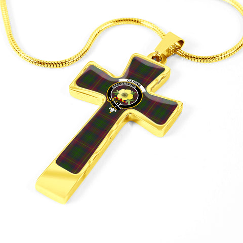 Cairns Tartan Jewelry - Cross Necklace K7