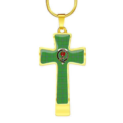 Image of Currie (Or Curry) Tartan Jewelry - Cross Necklace K7