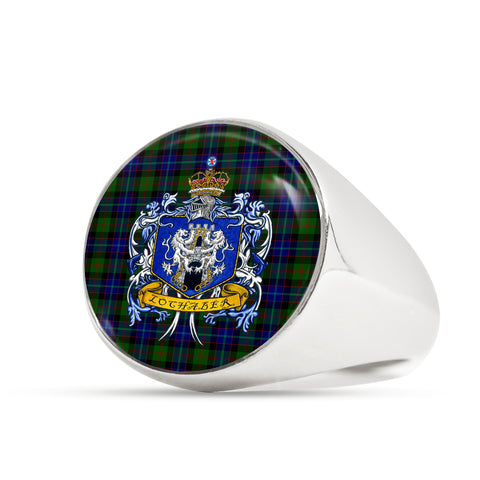 Image of Lochaber Tartan Crest Ring TH8