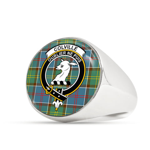 Colville district scottish ring silver
