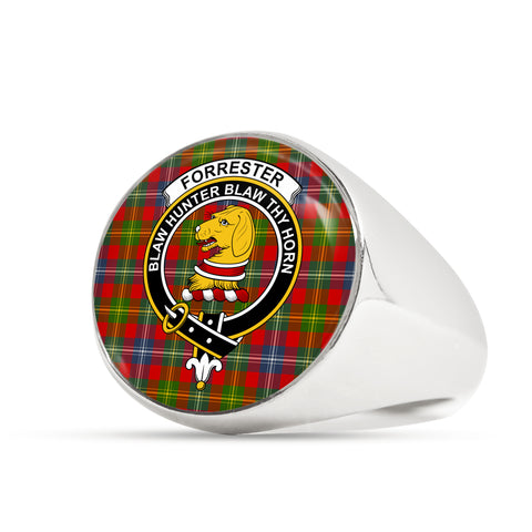 Forrester Tartan Crest Ring | Scottishclans.co