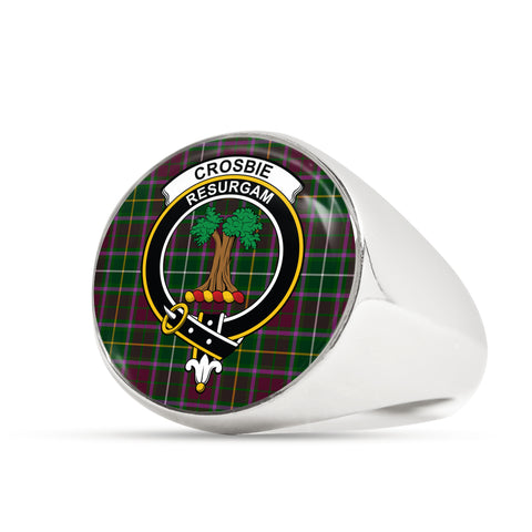 Crosbie scottish ring silver
