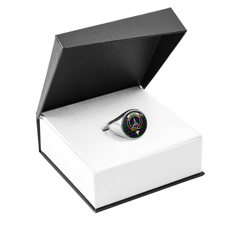 Morrison Modern Crest Ring Silver In Box