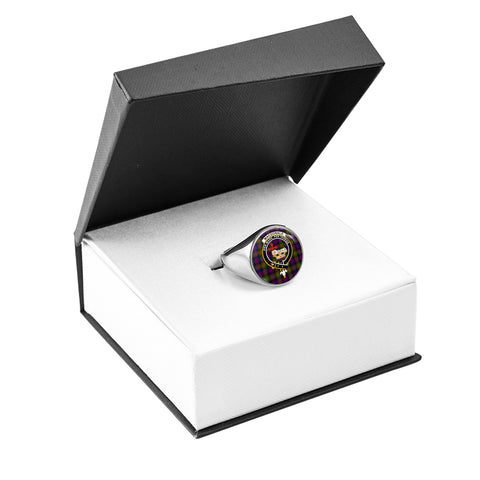 Image of MacDonald Crest Ring Silver In Box