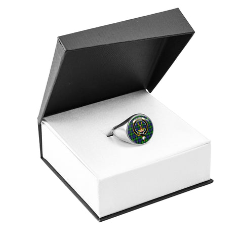 Image of Gordon Modern Crest Ring Silver In Box