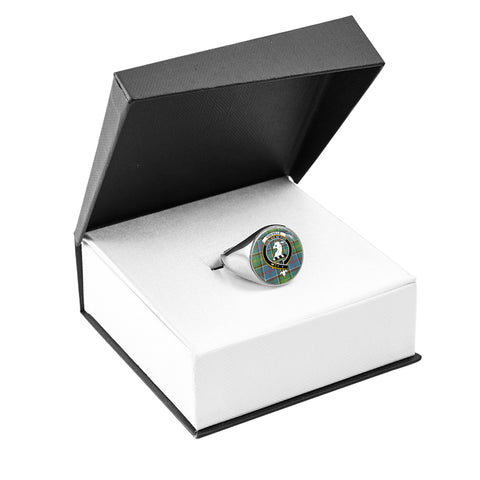 Colville district Crest Ring Silver In Box
