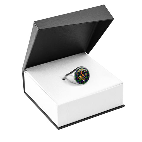 Sutherland II Crest Ring Silver In Box