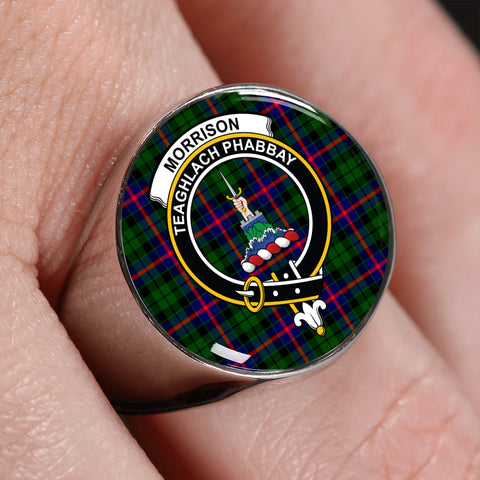Morrison Modern Tartan Crest Ring | scottishclans.co