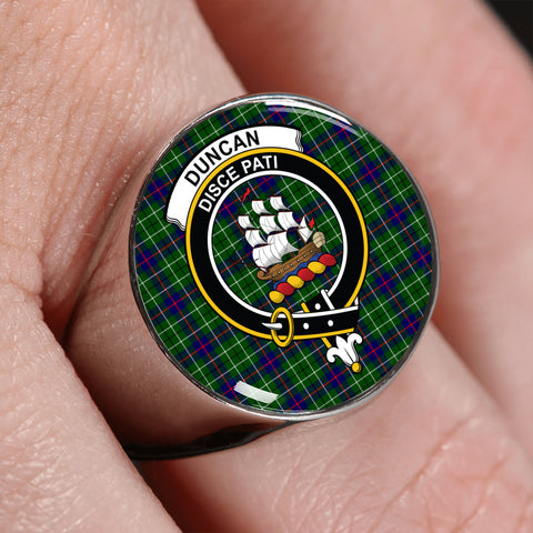 Duncan Tartan Crest Ring | scottishclans.co