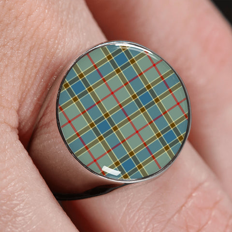 Image of Balfour Blue  Tartan Ring | scottishclans.co