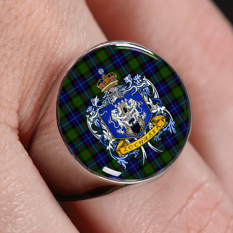 Lochaber Tartan Crest Ring TH8