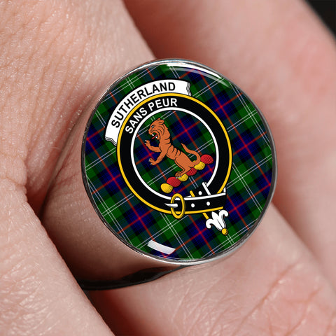Sutherland II Tartan Crest Ring | scottishclans.co