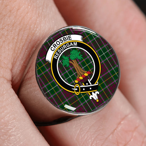 Crosbie Tartan Crest Ring | scottishclans.co