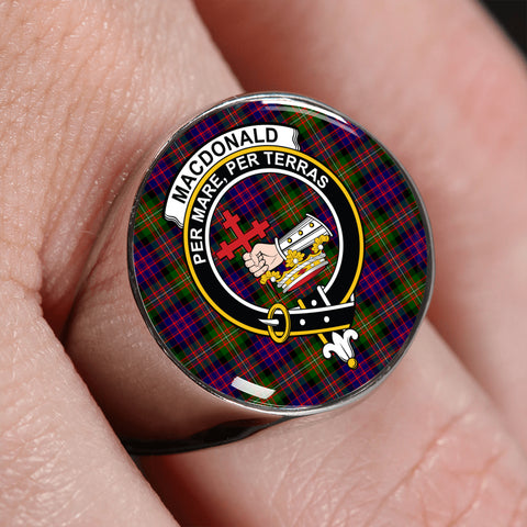 Image of MacDonald Tartan Crest Ring | scottishclans.co