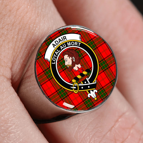 Image of Adair Tartan Crest Ring | scottishclans.co