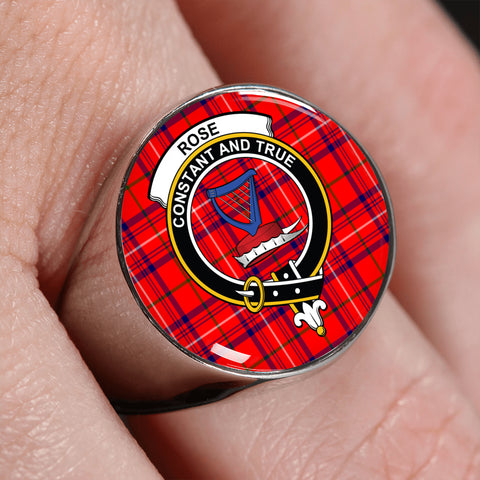 Image of Rose Tartan Crest Ring | scottishclans.co