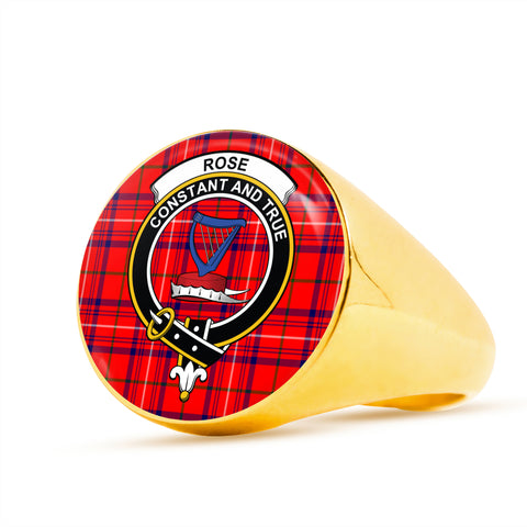 Rose scottish ring gold