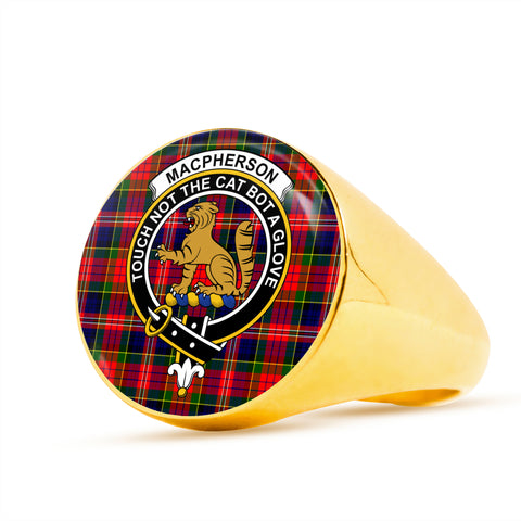 Image of MacPherson Modern scottish ring gold