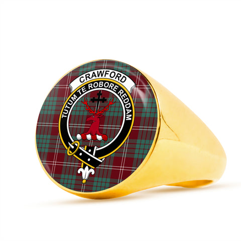 Image of Crawford Modern scottish ring gold
