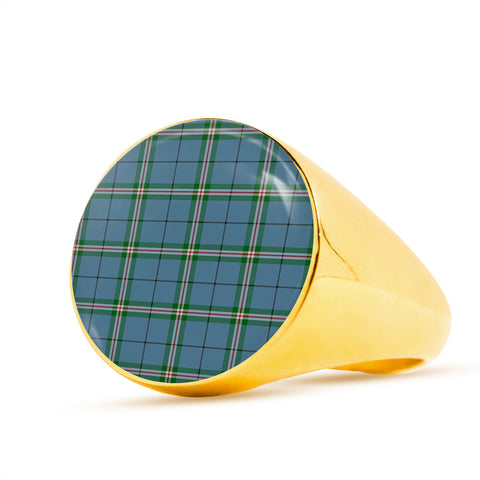 Clelland modern  Tartan Ring Th8