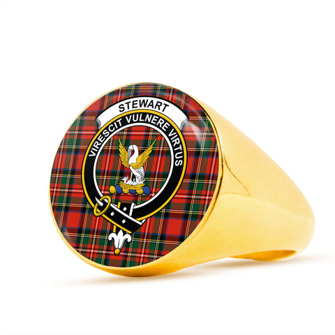 Image of Stewart scottish ring gold