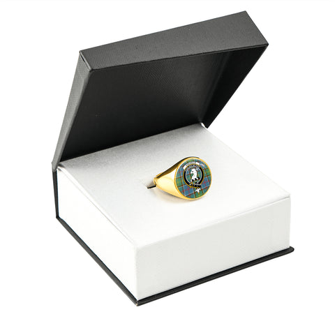 Image of Colville district Tartan Ring Gold In Box