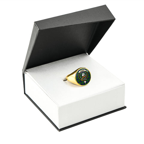 Image of Duncan Tartan Ring Gold In Box