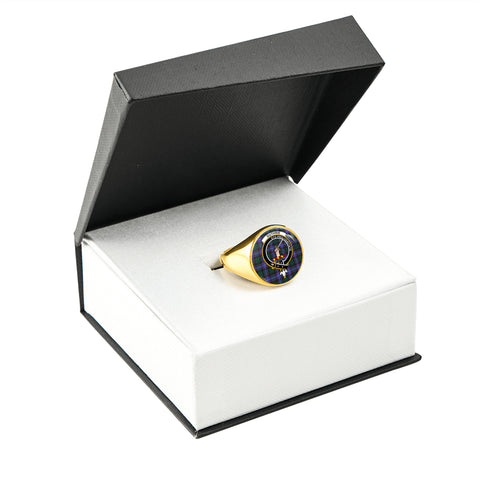 Image of Guthrie Modern Tartan Ring Gold In Box