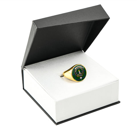 Image of Henderson Modern Tartan Ring Gold In Box