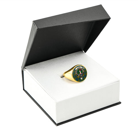 Image of Aiton Tartan Ring Gold In Box