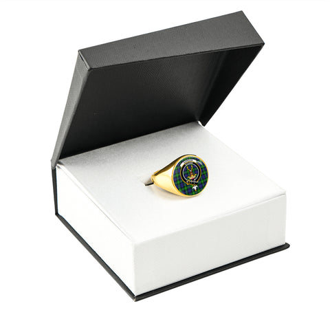 Gordon Modern Tartan Ring Gold In Box
