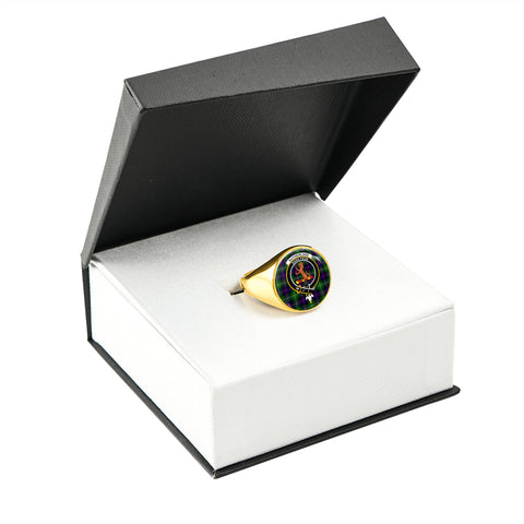 Image of Sutherland II Tartan Ring Gold In Box