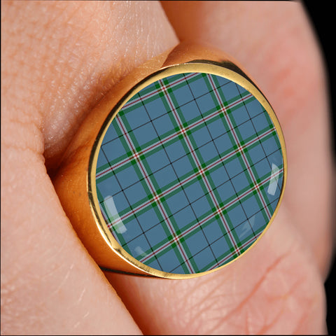 Image of Clelland modern  Tartan Ring Th8
