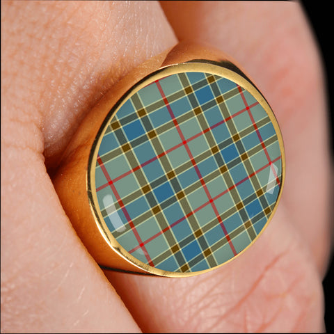 Balfour Blue  Tartan Ring Th8