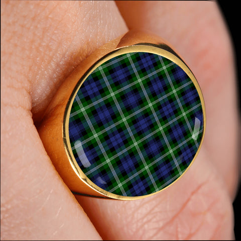 Image of Baillie Modern  Tartan Ring Th8