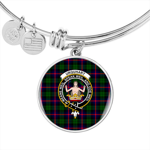 Urquhart Modern Tartan Crest Circle Bangle