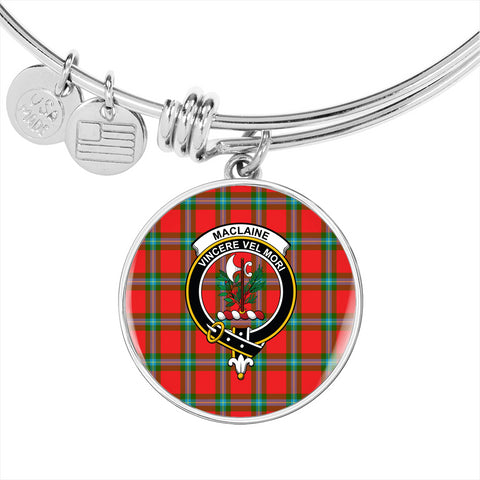 Image of MacLaine of Loch Buie  Tartan Crest Circle Bangle HJ4