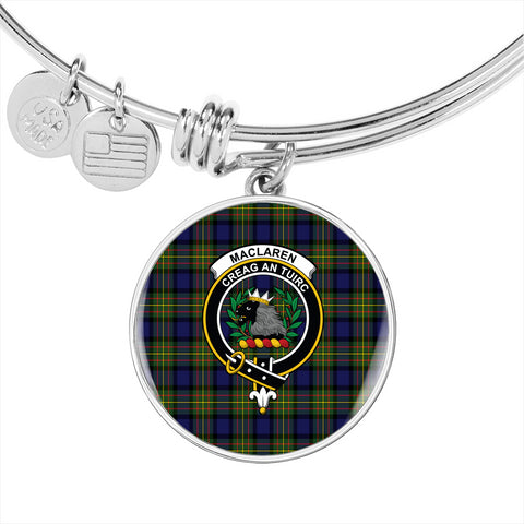 MacLaren Modern  Tartan Crest Circle Bangle