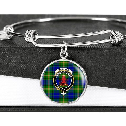 Maitland Tartan Crest Circle Bangle