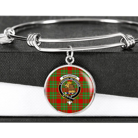 Image of MacGregor Modern  Tartan Crest Circle Bangle HJ4