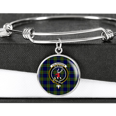 Colquhoun Modern  Tartan Circle Bangle